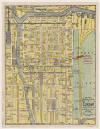 Maps Of Chicago by Map Of The Business Portion Of Chicago Geo F Cram 1909 Ichi