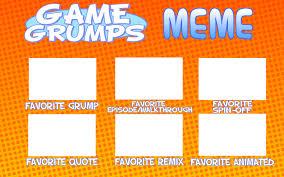 Game Grumps Memes - game grumps meme blank sheet by kristianthetiragon on deviantart