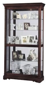 Oak Curio Cabinets Wood Curio Cabinets Dublin Model Windsor Cherry Finish
