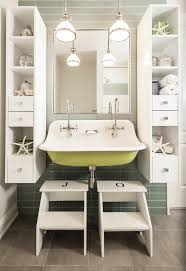 step stool for bathroom sink kohler utility sink bathroom beach with accent wall bathroom