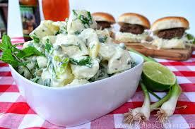 green onion u0026 pea potato salad katie u0027s cucina