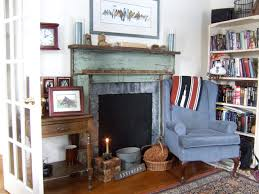 Shabby Chic Fireplaces by Shirley Corwin Shabby Chic Style Living Room Other