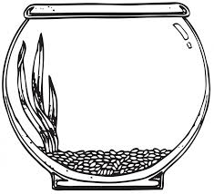 fish outline coloring page fish bowl coloring pages clipart clipartbarn
