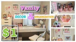 1 vanity organization decor dollar tree girly glam