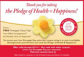 edible fruits coupon free pineapple pop from edible arrangements kroger krazy