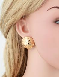 large stud earrings yellow gold color big large net button stud earrings pendant