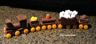 halloween ghost train cake