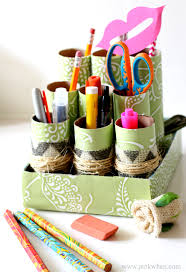 Diy Desk Organizer by Toilet Paper Roll Uses Toilet Paper Tube Crafts