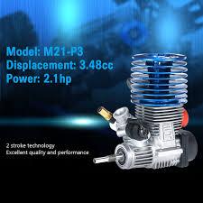 rc nitro monster trucks for sale original sh m21 p3 3 48cc 2 stroke pull start engine for 1 8 nitro