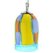Blue Pendant Light by Murano Glass Lighting Murano Glass Pendant Light Blue Lagoon