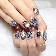 chanel tweed monochrome nails nail art and easy manicure