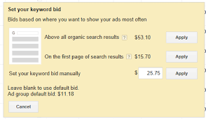 my bid new look for keyword bidding in adwords clix marketing ppc