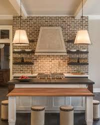 stacked kitchen backsplash innovative design brick backsplash for kitchen brick stacked