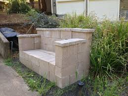 How To Build Outdoor Kitchen by Furniture Rustic Outdoor Bench Material Ideas With Cinder Block