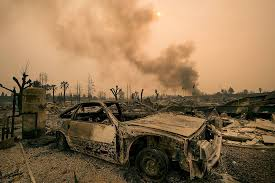 California Wildfire Ranking by Wildfires Ravage California With Shocking Speed 15 Dead