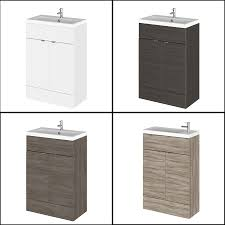 compact space saving white bathroom vanity unit and basin soapp