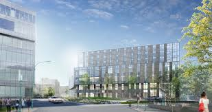another contemporary building planned for st louis college of the design on the new building borrows heavily from cannon s work at the centre hospitalier de l universite de montreal chum that project will integrate