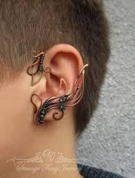 strange earrings strange jewelry ethereal and tribal ear cuffs