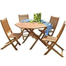 Milano Patio Furniture by Amazonia Teak Bt Octogon Set 5 Piece Patio Teak Dining Set