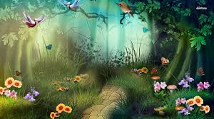 enchanted forest wallpaper mural wall murals you ll love fantasy forest wallpapers group 77 enchanted forest