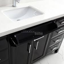 calais 60 inch transitional single sink bathroom vanity espresso