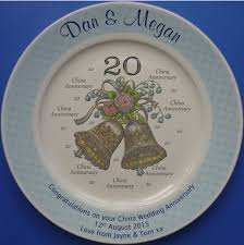 25th anniversary plates anniversary plates wedding bells 20 design ceramiccards