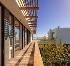 Exterior Unbelievable Design Balcony Lighting by Exterior Wood Awning For Deck Balcony With Slatted Roofs For