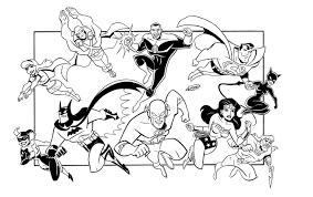 justice league coloring pages learn language me