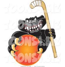 jaguar clipart vector illustration of a cartoon black jaguar mascot grabbing a