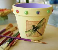 Cute Flower Pots by Clay Flower Pot Painting Ideas 30 Cute Interior And Spring Painted
