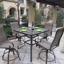 Metal Patio Dining Sets - patio dining sets glass top minimalist pixelmari com