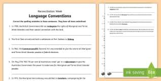 national reconciliation week spelling activity sheet australia