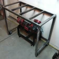 harbor freight welding table compact workshop welding area ctm projects