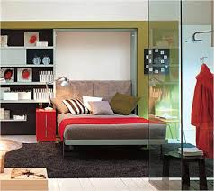 bedroom smart furniture unit application for space saving with