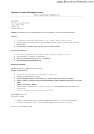 sample assistant property manager resume assistant property