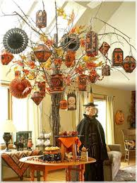 Miniature Halloween Ornaments by Spooky Halloween Tree Decoration