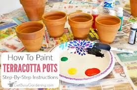what is the best paint to paint your kitchen cabinets with how to paint terracotta pots step by step get busy gardening