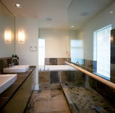 slate tile designs bathroom contemporary with soaking tub tub