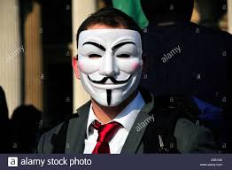Guy Fawkes Mask Halloween by Man Wearing Guy Fawkes Mask Stock Photo Royalty Free Image