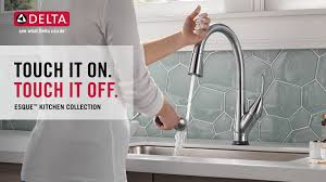delta touch kitchen faucet delta esque single handle pull sprayer kitchen faucet with