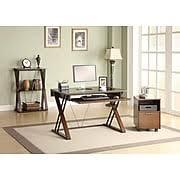 Narrow Computer Desk With Hutch Computer Desks Corner Desks Office Desks Staples