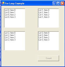 visual basic for loop cs3se3 lecture examples