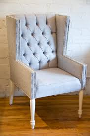 tufted wingback dining chair with regard to the house clubnoma com