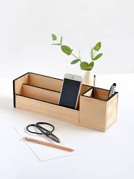 wood desk organiser for curbly u2013 make and tell