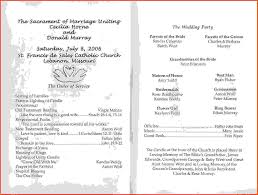 Wedding Programs Sample Wedding Program Samples Sponsorship Letter