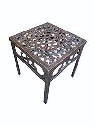 Oakland Patio Furniture Amazon Com Oakland Living Mississippi Cast Aluminum End Table