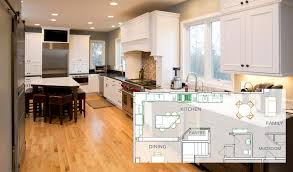 kitchen family room floor plans home remodeling idea open floorplan kitchen renovations