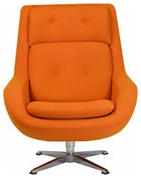 Vintage Swivel Chair Commander Swivel Chair Orange Modern Armchairs And Accent