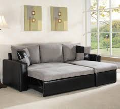 Modern Leather Sleeper Sofa Furniture Black Leather Sleeper Sectional Sofa With Chaise And