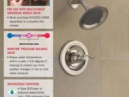 Low Water Pressure In Bathtub Only Shower Wonderful Shower Pressure Balance Valve Delta Dryden 1